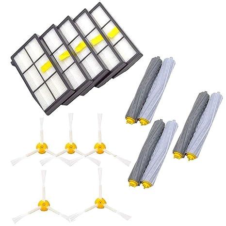 Fcostume Repuestos para iRobot Roomba 860 880 805 860 980 960 Aspirador con 5 uds.