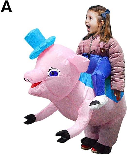 Bettying - Disfraz de Cerdo Hinchable para Adultos y niños: Amazon ...