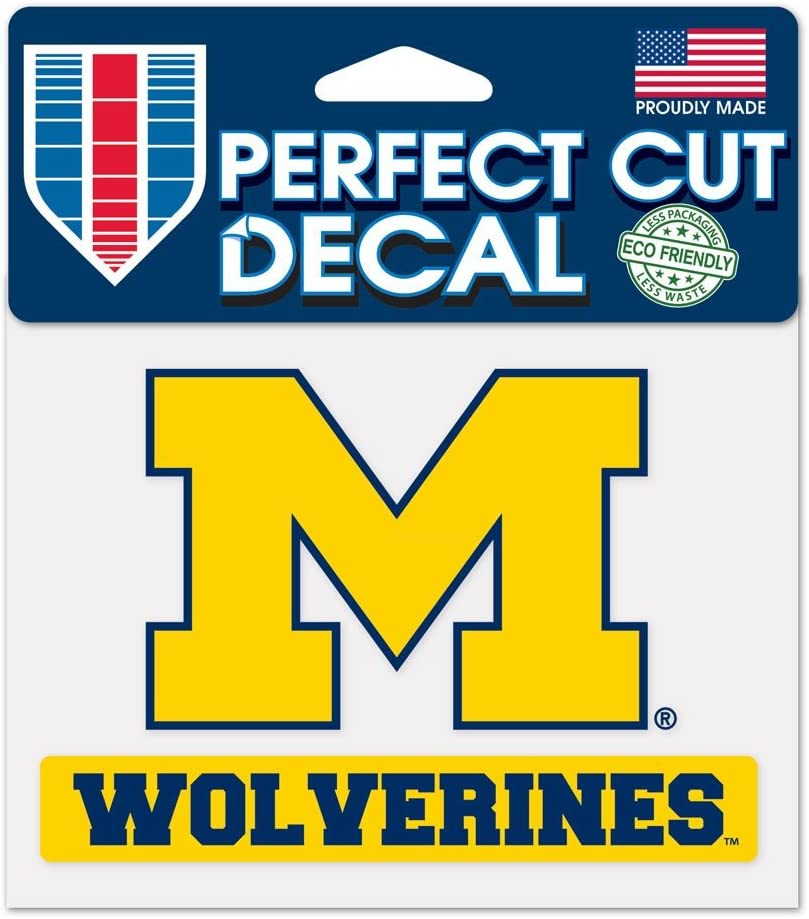"""WinCraft NCAA University of Michigan WCR38151014 Perfect Cut Color Decal, 4.5"""" x 5.75"""""""