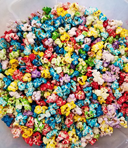 Tin Birthday Popcorn (Uncle Pops Rainbow Kettlecorn Popcorn - 5 Gallons - 60 OZ of Rainbow - Stays FRESH in Resealable Bag)