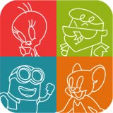 4 pics 1 cartoon kids app - Iconic - Guess the Character Quiz