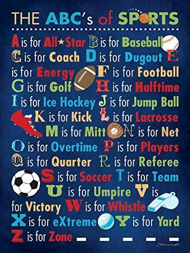 Popular ABC's of Sports Poster Print; One 11x14in Poster Print]()