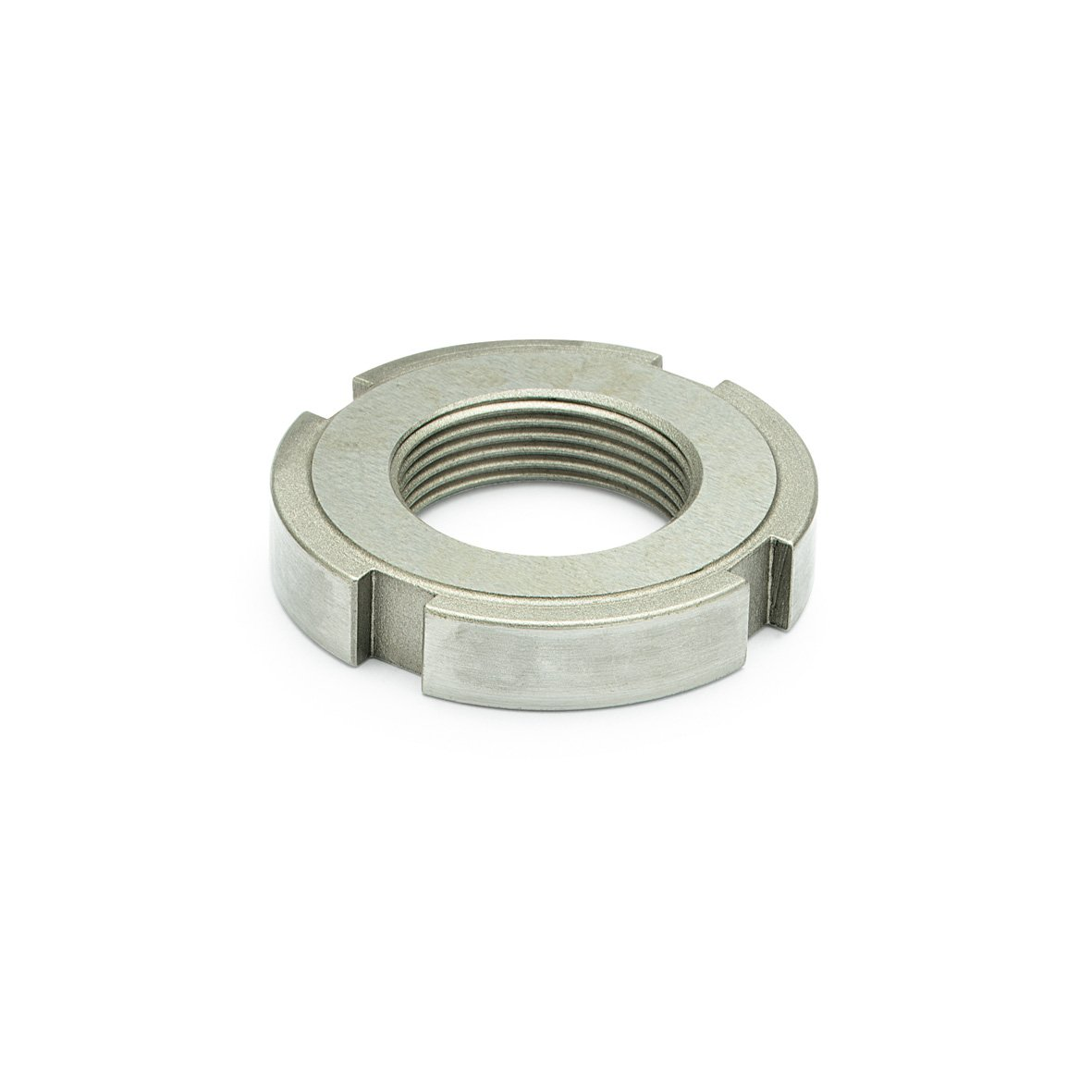 J.W. Winco 1804-M20X1.5-WNI DIN1804-NI Slotted Spanner Nut, M20 x 1.5 mm, Stainless Steel by JW Winco