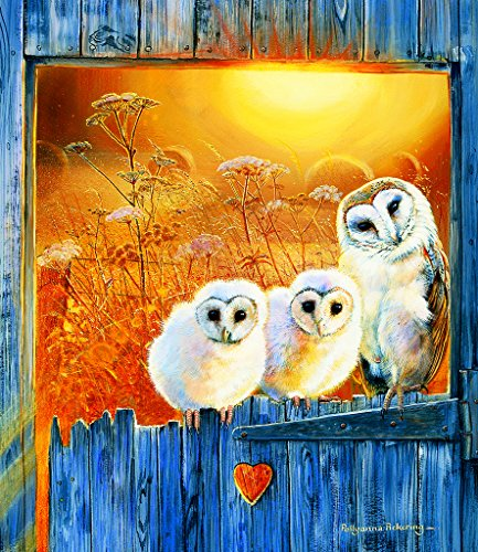 Owls in the Window 550 pc Jigsaw Puzzle by SunsOut