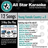 ASK-1562 Karaoke: Young Female Country 3 With Karaoke Edge, Featuring Hits in the Style of Carrie Underwood, Lady Antebellum, Miranda Lambert, and Taylor Swift