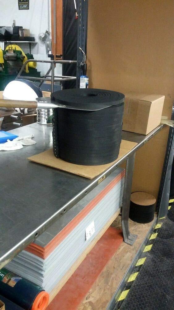 Neoprene Sheet Rubber Strip 1//8Thk x 3 W x 15 Foot Roll 60 Duro ACCW5287CS