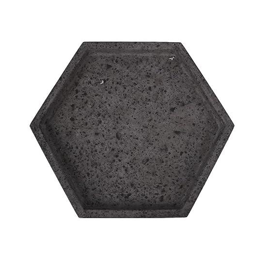 Molde de Silicona Hexágono para Maceta DIY Molde de Florero de Cemento Cerámico Molde de Silicona Plantas Molde de Silicona Cenicero Candelero: Amazon.es: ...