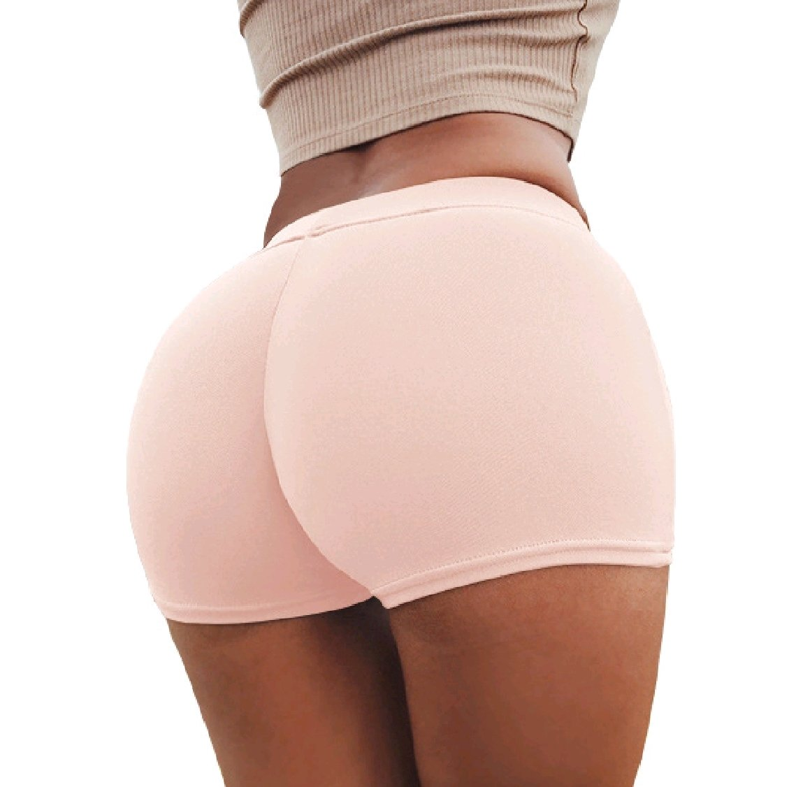 Freely Womens Hip-up Running High-Waisted Pure Colour Fashion Shorts S Pattern1