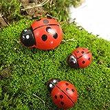 [Free Shipping] Micro Landscape Wooden Red Ladybug Home Garden Landscaping Decor // Micro paisaje jardín de su casa de madera mariquita roja decoración de jardinería