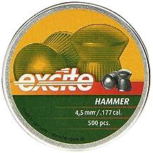 H&N Excite Hammer Airgun Pellets 0.177 Cal, 7.87 Grains, Domed, 500 Count