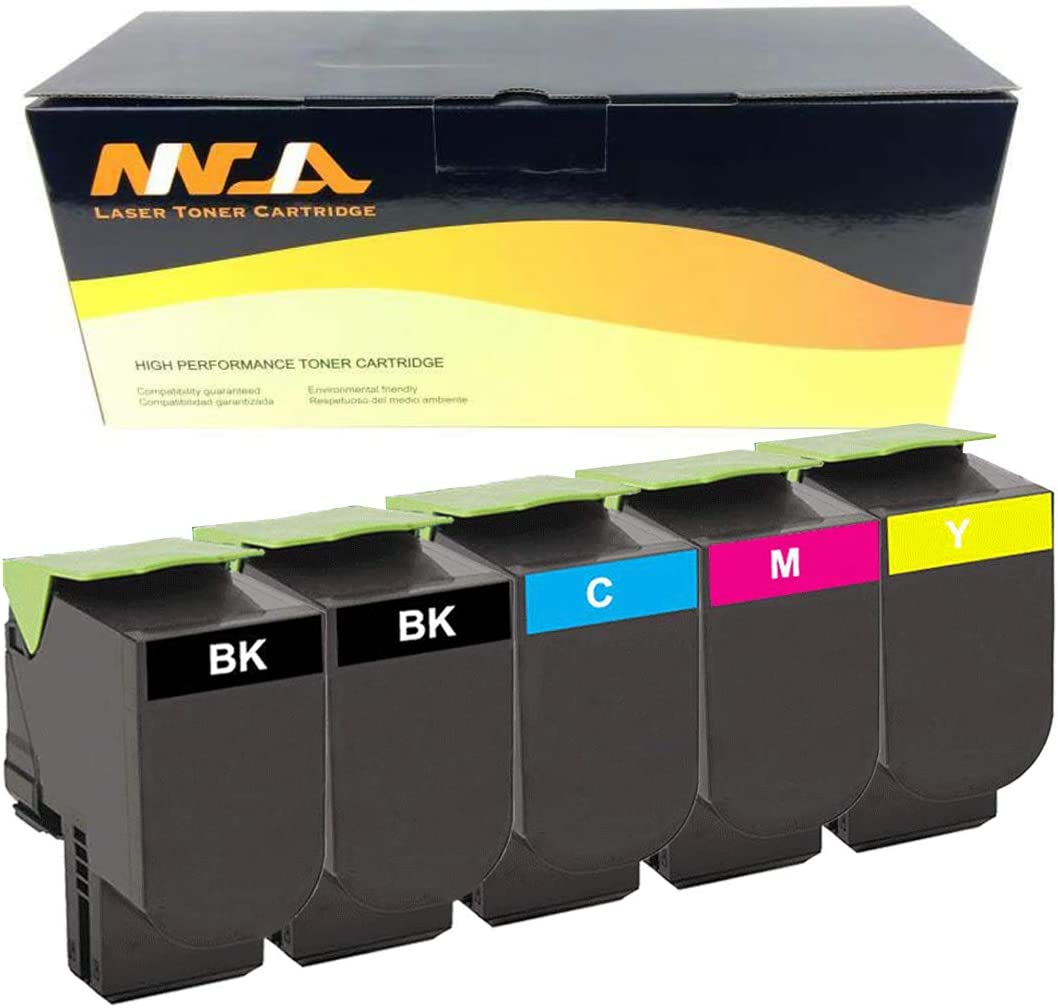 Ninjatoner Compatible Toner Cartridge Replacement for Lexmark 70C1HK0 70C1HC0 70C1HM0 70C1HY0 for CS310n CS310dn CS410n CS410dn CS410dtn CS510de CS510dte Printers BCMY, 5 Pack