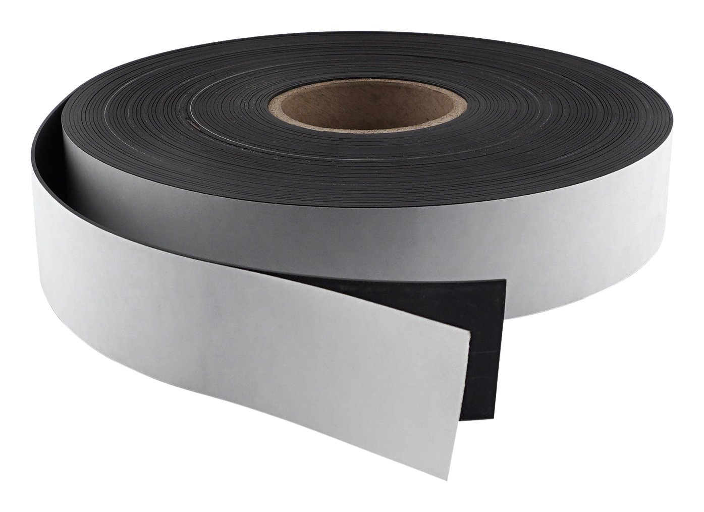 Master Magnetics Flexible Magnet Strip with Adhesive Back , 1/16'' Thick, 3'' Wide, 50 feet (1 Roll)
