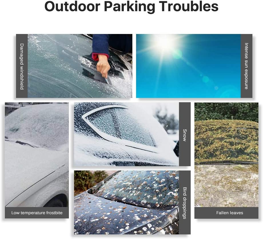 Car rainshield Snow Protection Sun Windshield Cover Car Window Cover with Magnet 183 * 114 CM 0.4KG