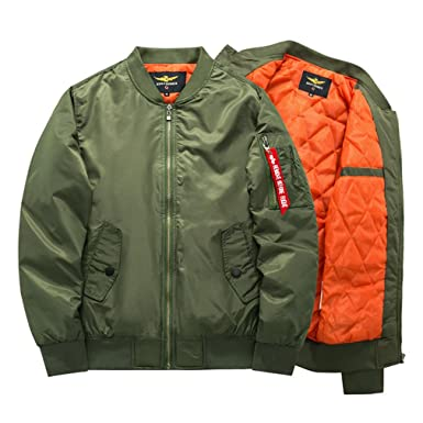 ae2f6f02946 Veefpsm Men's Bomber Jacket Winter Army Green Military Style Breathable Jacket  Coat Thick Army S