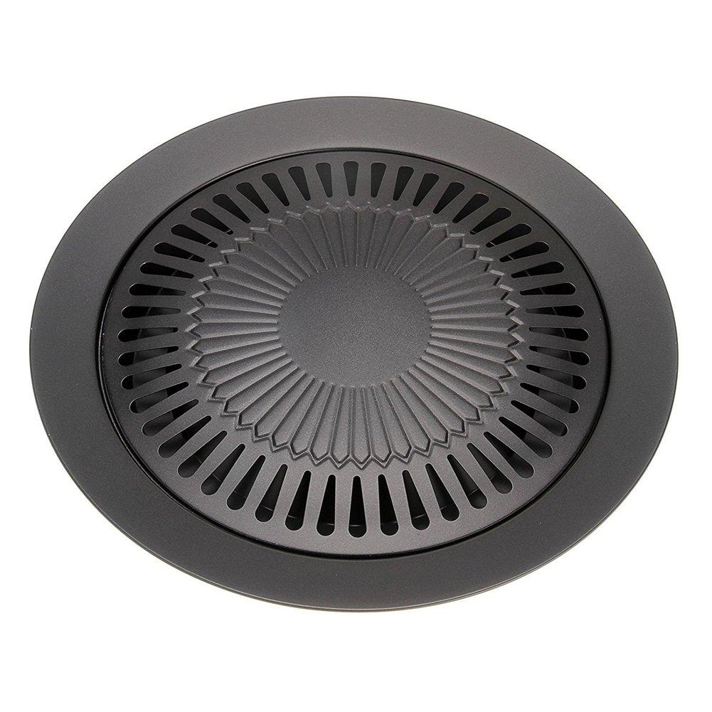 CHYIR Korean Style Non-stick Smokeless Indoor Barbecue Pan Grill Stovetop Plate