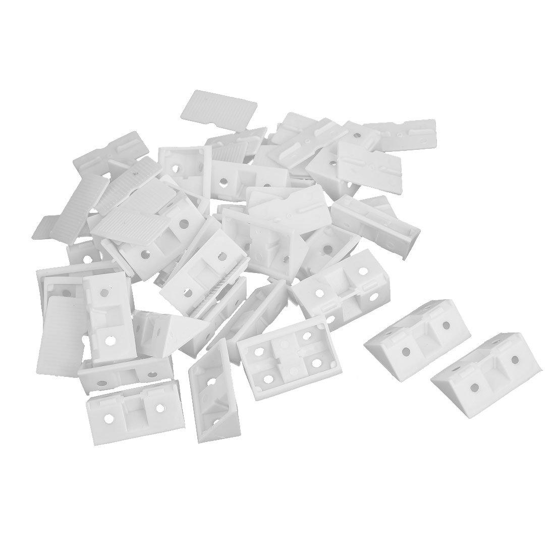 Shelf Cabinet 90 Degree Plastic Corner Braces Angle Brackets 30pcs