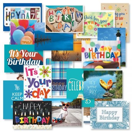 Image Unavailable Not Available For Color Mega Birthday Greeting Card Value Pack