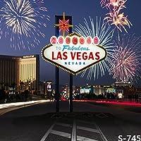 5x7ft Vinyl Digital Casino City Las Vegas Fireworks Photography Studio Backdrop Background