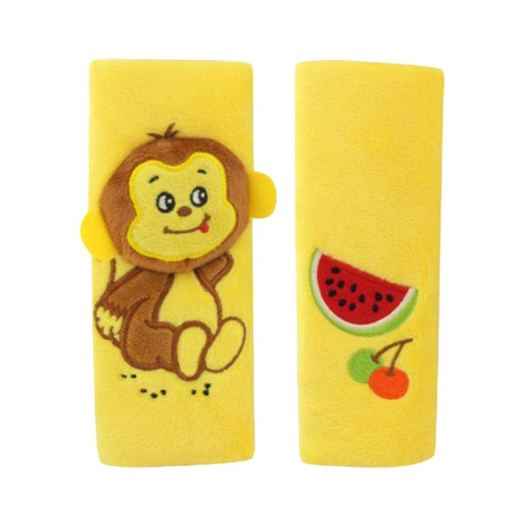 YeahiBaby 2pcs Protège Ceinture de sécurité enfant Cale-tête de Ceinturre de Sécurité de Voiture pour enfant