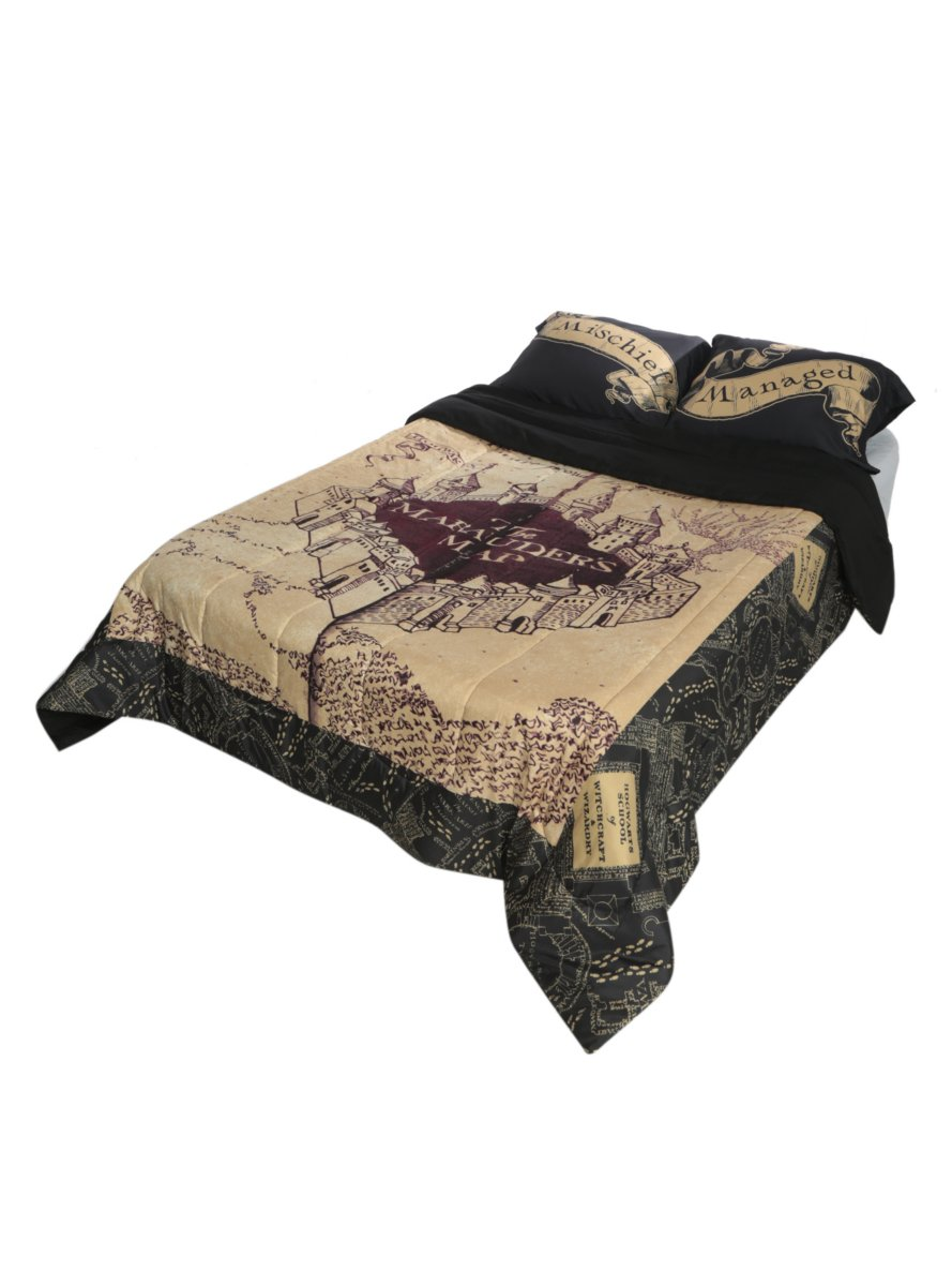 Harry Potter The Marauder's Map Full/Queen Comforter by Hot Topic