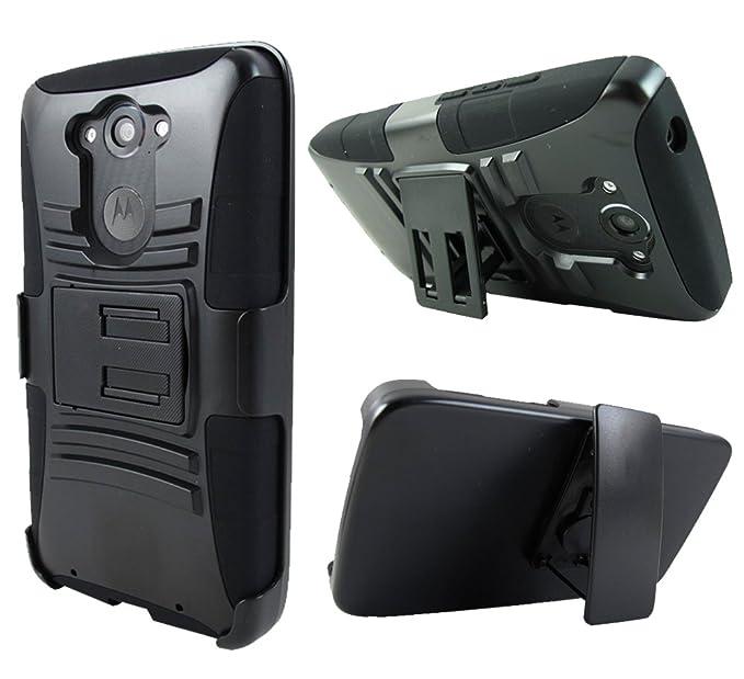Motorola DROID TURBO Case, Kaleidio [Armor Holster] Hybrid Protective Cover w/ Kickstand