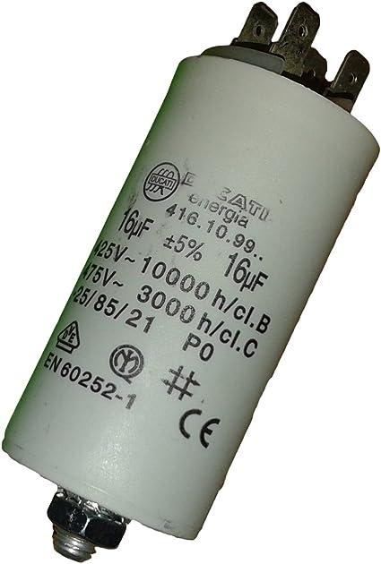funzionamento condensatore con un altro connettore MOTOR Condensatore 16 UF 450 Volt