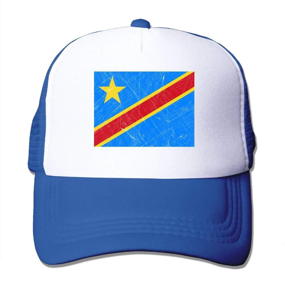 Gddg Caps Congo Flag Colortone Men Summer Adjustable Snapbackc Baseball Caps Trucker Hat