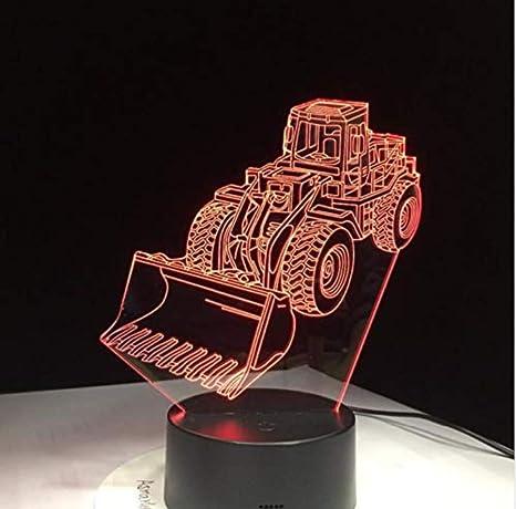 3d Acrylic Night Light Bagger Bulldozer Maschine Lampe 3d