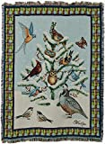 Pure Country Bird Haven Blanket Tapestry Throw