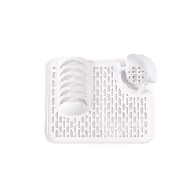 Dimensiones aproximadas de 40x30 cm Incluye Soporte para Platos y Cubiertos Muy pr/áctico para cocinas peque/ñas o para Viajar VDM Home Products/® ESCURRIDOR