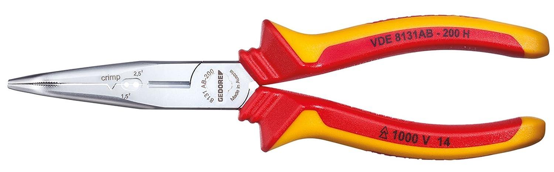 GEDORE 8131 AB-200 H VDE-Mehrfachzange 200 mm gewinkelt mit Hü llenisolierung Gedore Werkzeugfabrik GmbH & Co. KG VDE 8131 AB-200 H