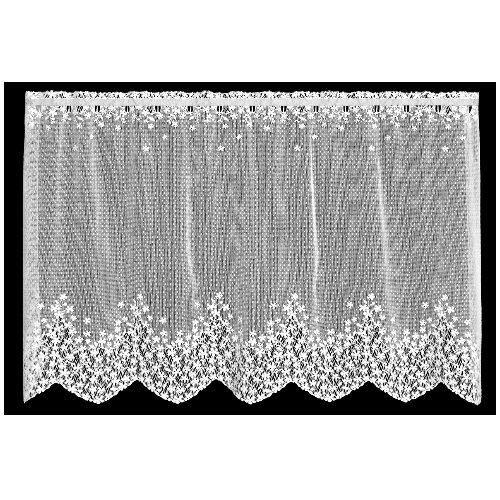 Heritage Lace Blossom 42-Inch Wide by 30-Inch Drop Tier, White