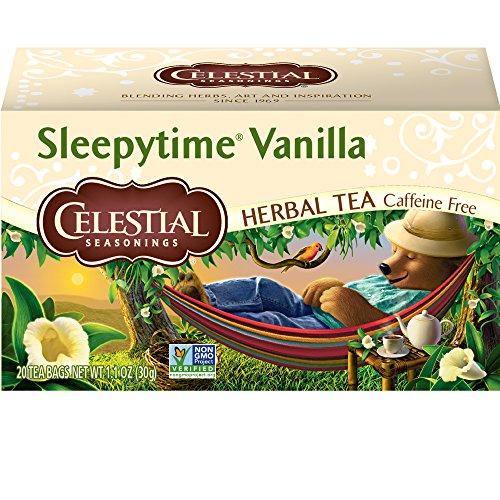 Celestial Seasonings Herbal Tea, Sleepytime Vanilla, 20 Count (Pack of 6) - Packaging May vary(