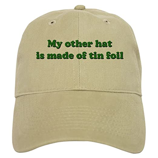 CafePress - Other Hat Made of Tin Foil Cap - Baseball Cap with Adjustable  Closure 750a6641a42
