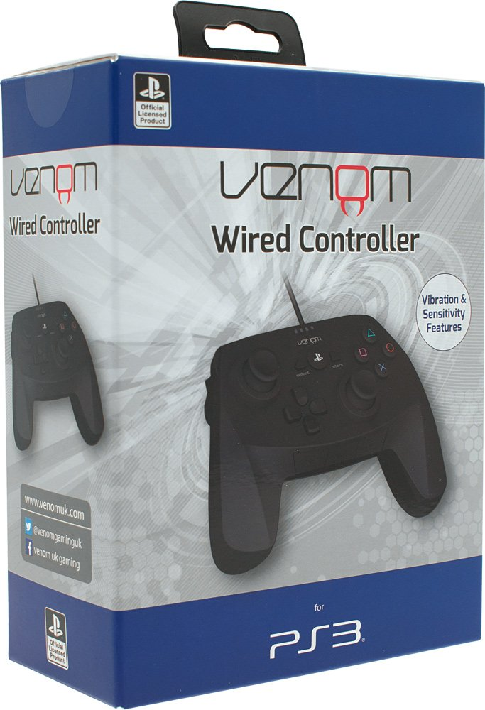 Official Sony Playstation 3 Wired Analogue Rumble Controller: Amazon ...