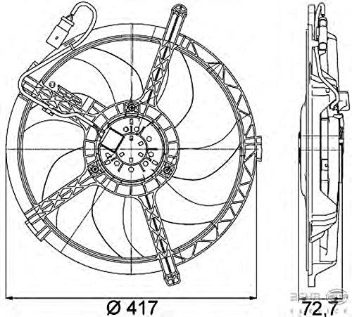 Mini Mini 8ew351042741 Radiator Fan By Hella Amazon Co Uk Car