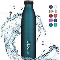 """720°DGREE Edelstahl Trinkflasche """"milkyBottle"""" – 750ml, 1000ml - Deine Lifestyle Thermoflasche, Isolierflasche - Doppelwandig, Vakuum isoliert, Auslaufsicher & Kohlensäure geeignet"""