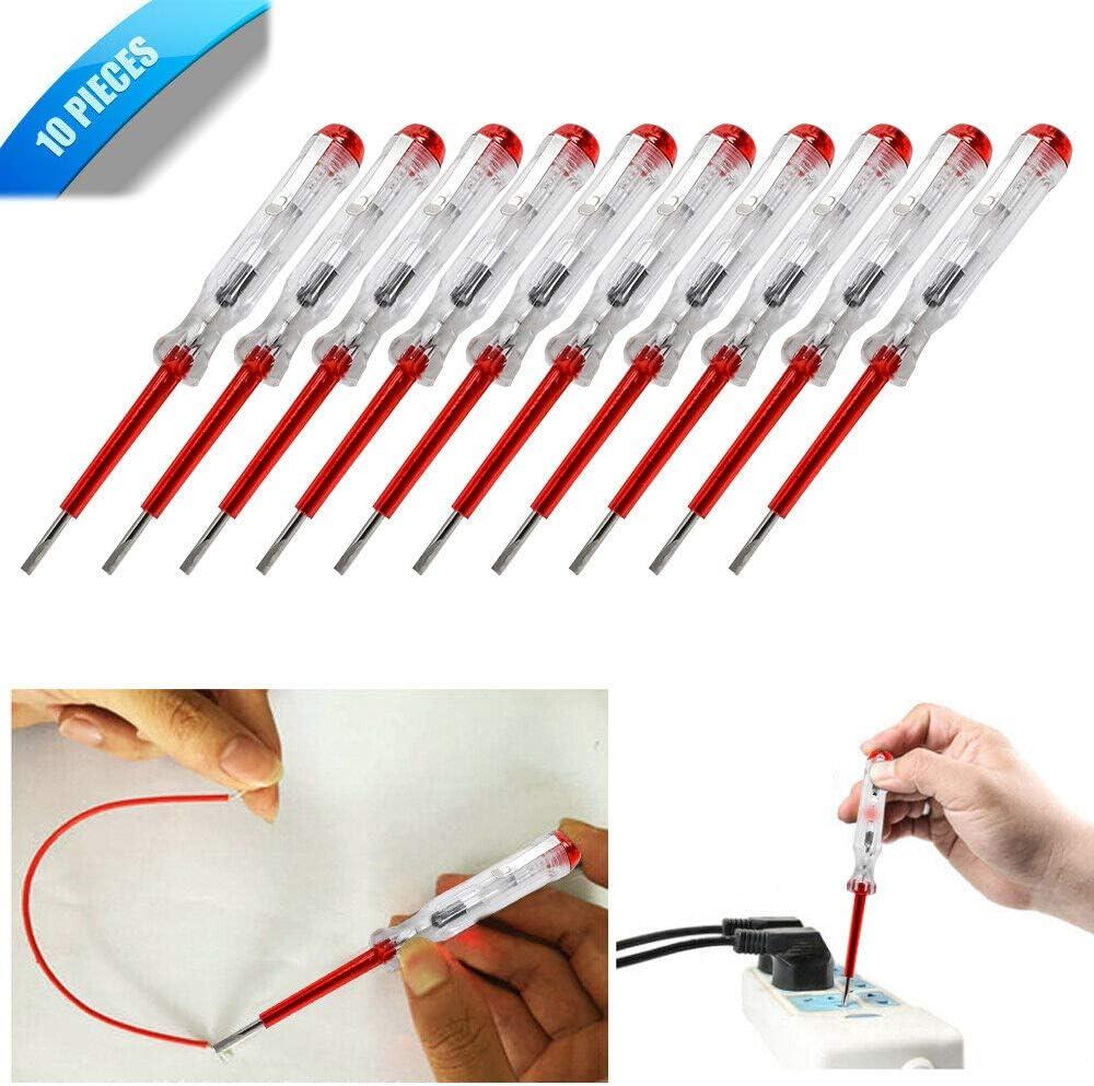 10 unidades de comprobador de circuitos el/éctricos AC para uso diario y urgente.