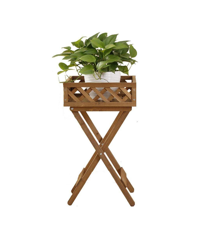 LB huajia ZHANWEI Massivholz Blumenregal Klassische Topfpflanzen Regale Multifunktionale Bonsai Rahmen Regale Wohnzimmer mit Balkon Blumenregal