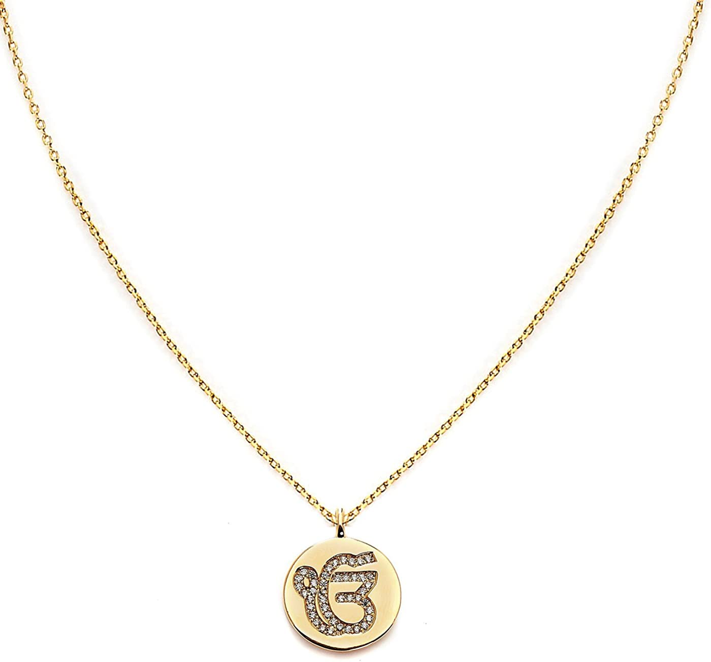 Blinglane Circle of Life Rose Gold Plated Necklace