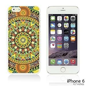 OnlineBestDigital - Flower Pattern Hardback Case for Apple iPhone 6 (4.7 inch)Smartphone - Mandala Floral Pattern