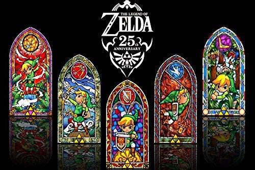 Run Fashion The Legend Zelda Game Art Silk Fabric Scroll Pos