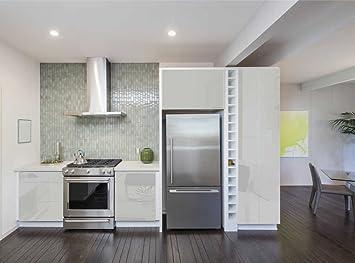 Aufkleber für Küchenschränke 63x500cm GLANZ - Folie aus hochwertigem ...