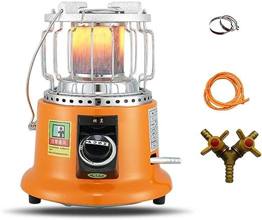 YUEWO Patio Calentador Calentador Al Aire Libre Múltiples Funciones Estufa De Pie con Mango Interior Jardín Patio 3600W (Gas Natural): Amazon.es: Jardín