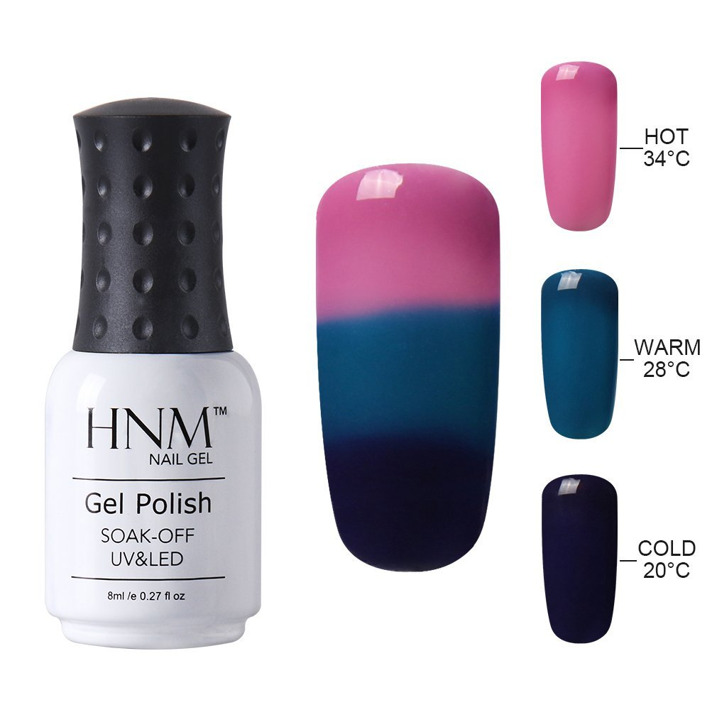 Amazon.com : HNM Thermal Temperature Color Changing Gel Nail Polish ...