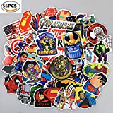 Debon Luggage Tags Stickers The Avengers Laptop Skin Sticker Decal Label for Truck Cars PC IPAD Bumper Skateboard Helmet Auto Bikes Ride Patches Funny Waterproof Removable Wall Decals Gift for Travel