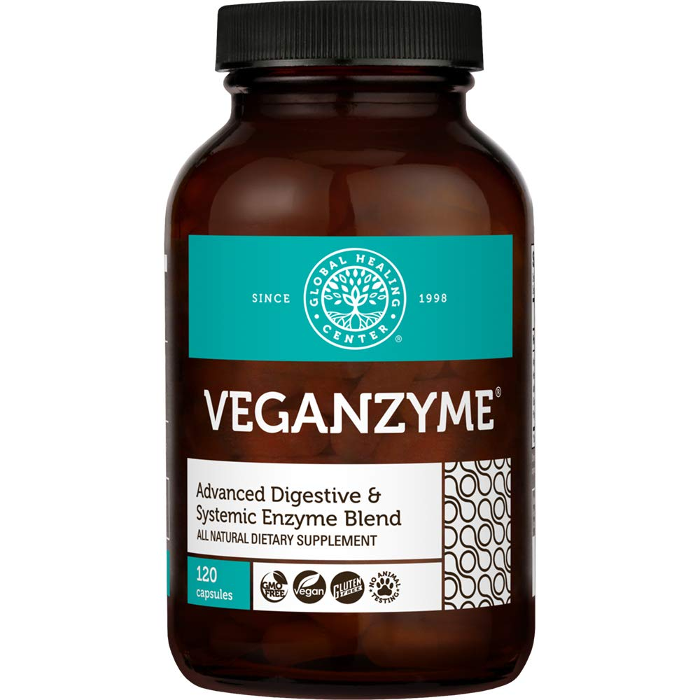 Global Healing Center Veganzyme, 120 Capsules by Global Healing Center