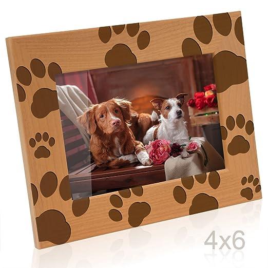 Amazon.com - Kate Posh - Doggie Paw Prints Wooden Picture Frame (5x7 ...