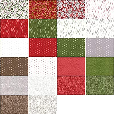 """Moda FABRIC Charm Pack ~ MERRIMENT ~ by Gingiber 42-5/"""" squares"""