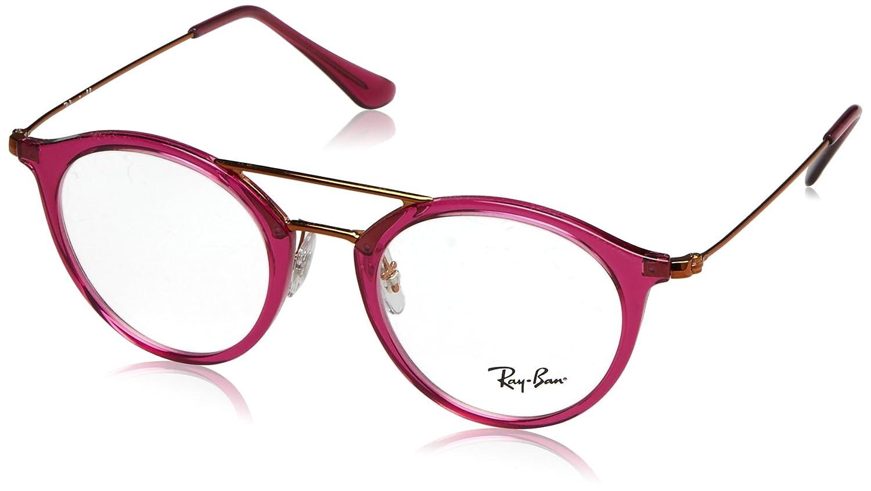 f1fd6ffc97a6d3 Amazon.com  Ray-Ban Unisex RX7097 Eyeglasses Black 47mm  Clothing
